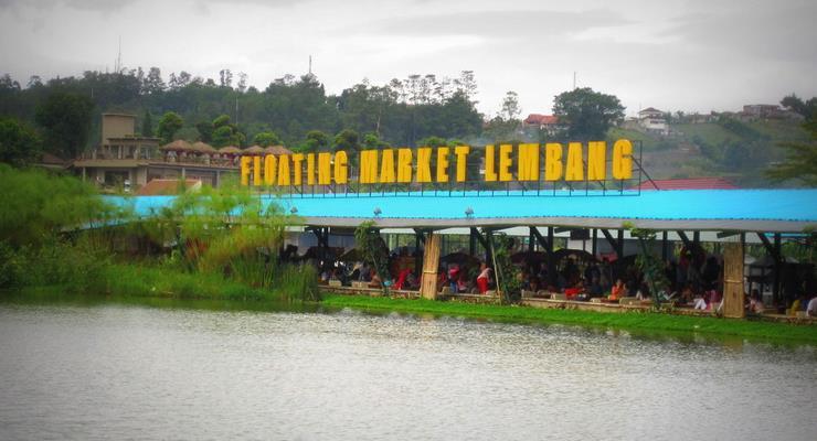 Floating Market Menjadi Tempat Wisata Bandung Sebandung Pasar Apung Lembang