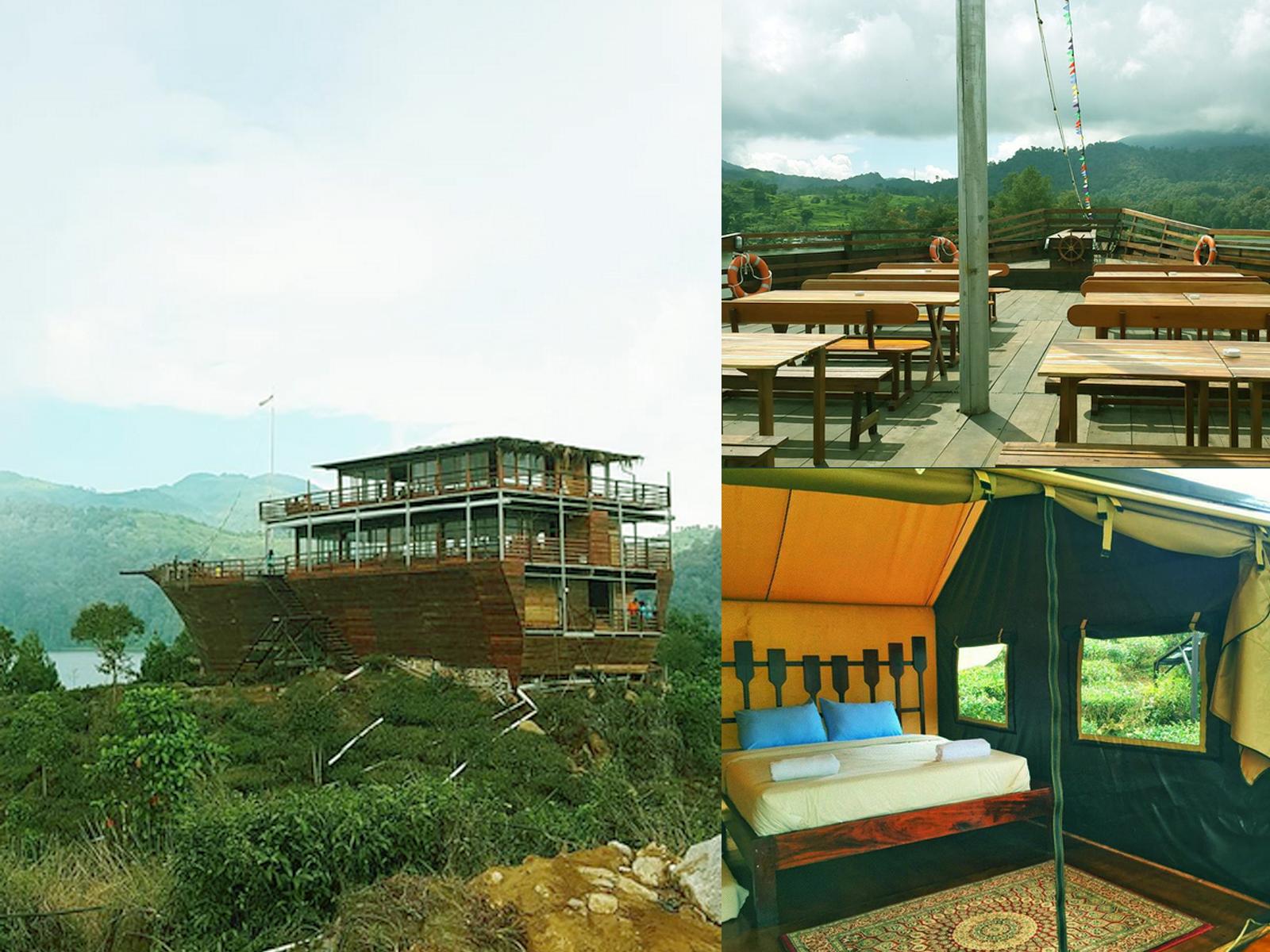 Lakeside Glamping Rancabali Sajikan Pinisi Resto Kemah Eksklusif Restoran Perahu