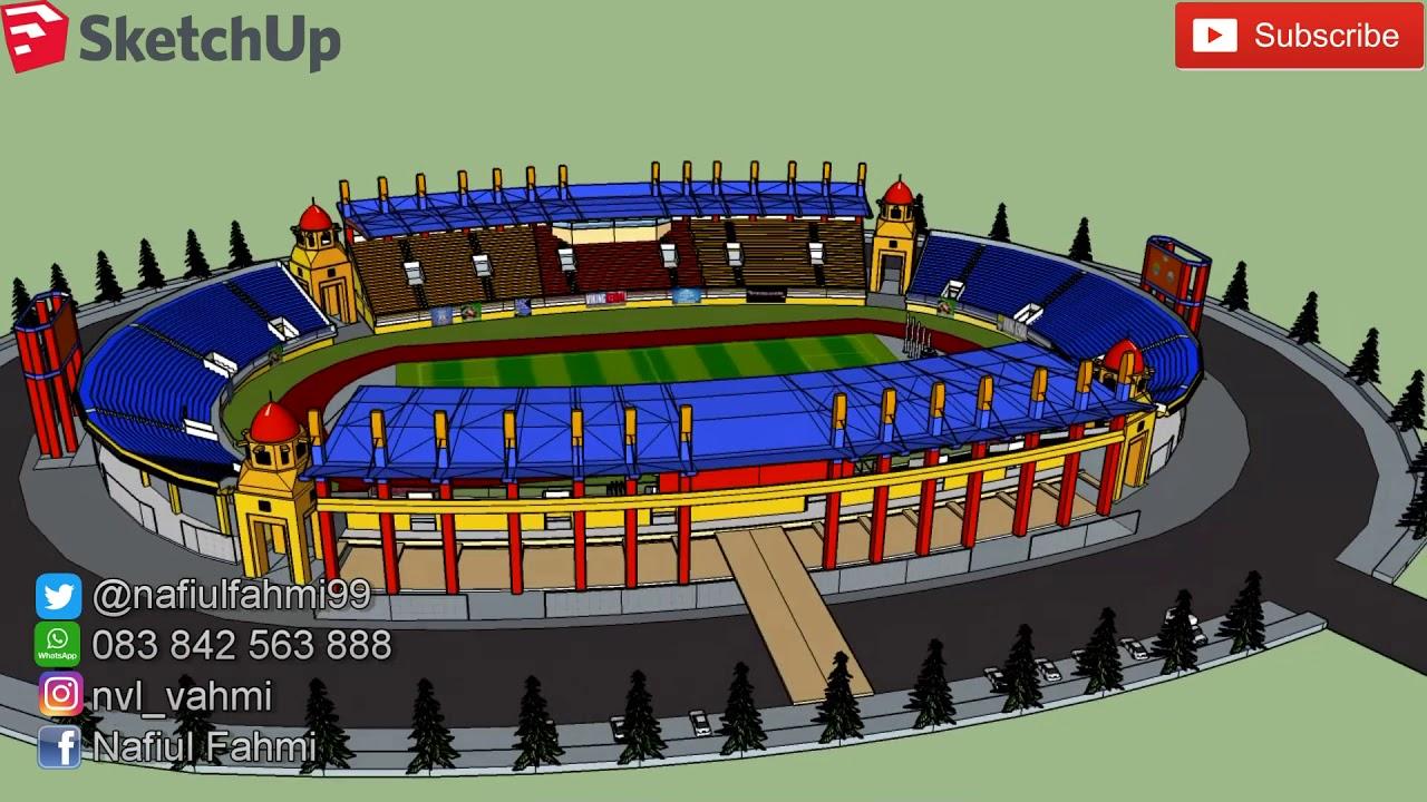 Stadion Jalak Harupat Kabupaten Bandung 3d Animation Sketch Kab