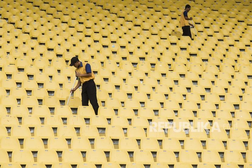 Stadion Jalak Harupat Siap Asian Games 2018 Republika Online Pekerja