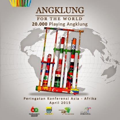 Bandung Lautan Angklung 23 April 2015 Stadion Siliwangi Instrumen Musik