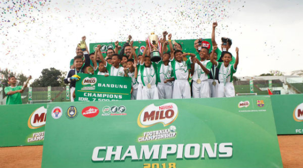 Sdn Conggeang 1 Sumedang Juara Milo Football Championship Bandung Menjadi