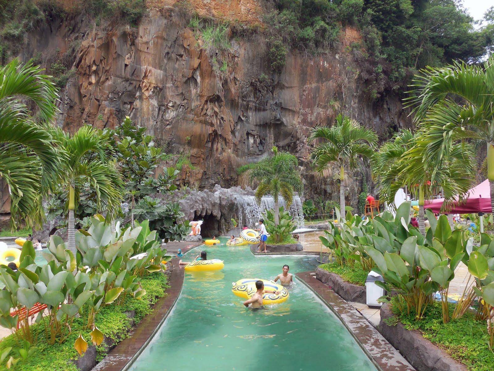 Pesona Nirwana Waterpark Cottages Soreang Bandung Taman Air Kab