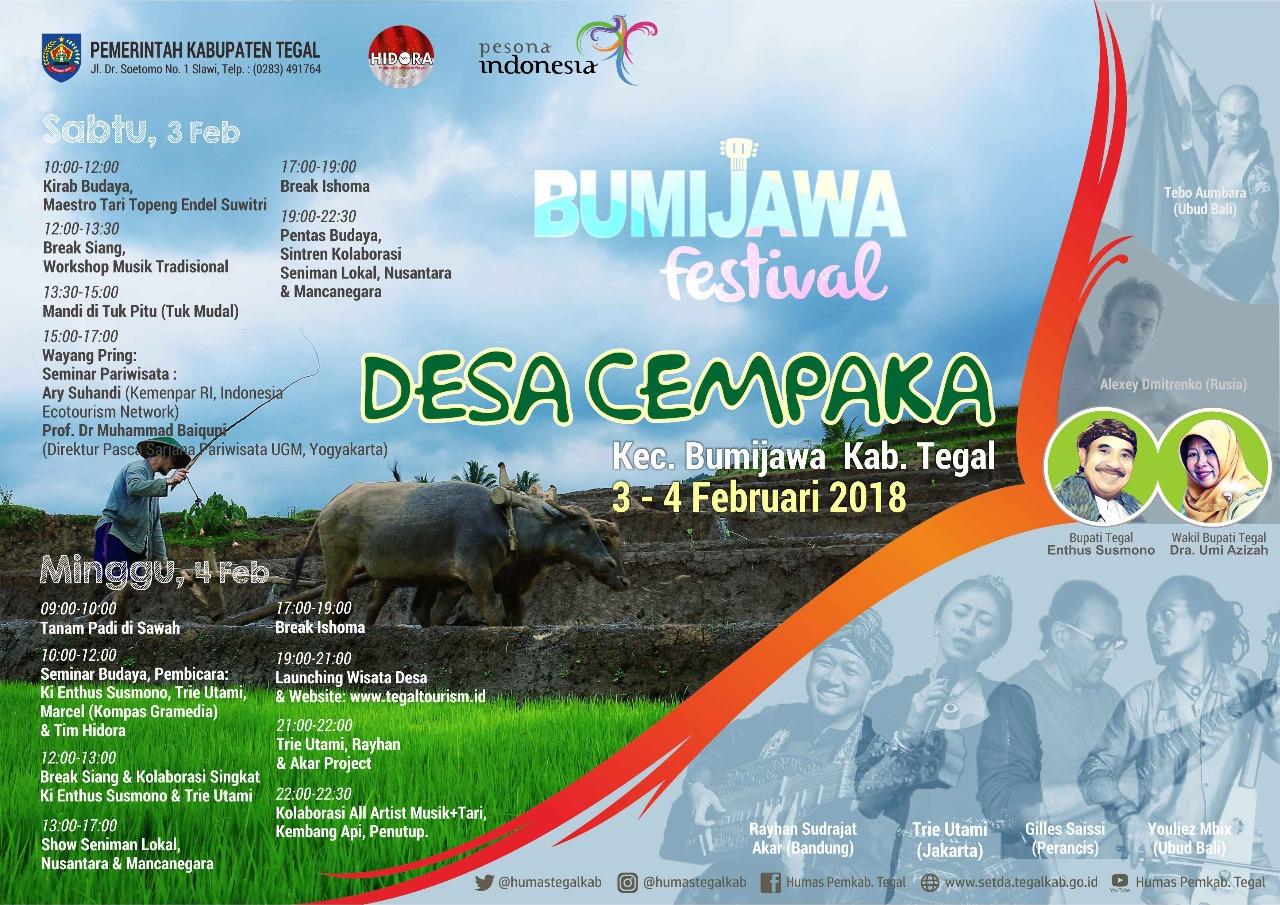 Bumijawa Festival 2018 Hajatan Budaya Wisata Tegal Info Taman Cempaka
