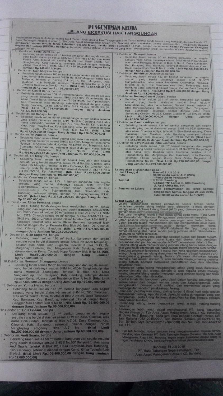Lelang Direktorat Jenderal Kekayaan Negara Kementerian Keuangan Btn Luas 132