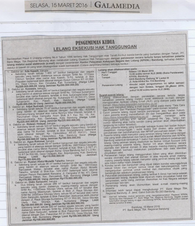 Lelang Direktorat Jenderal Kekayaan Negara Kementerian Keuangan Seluas 96 M2
