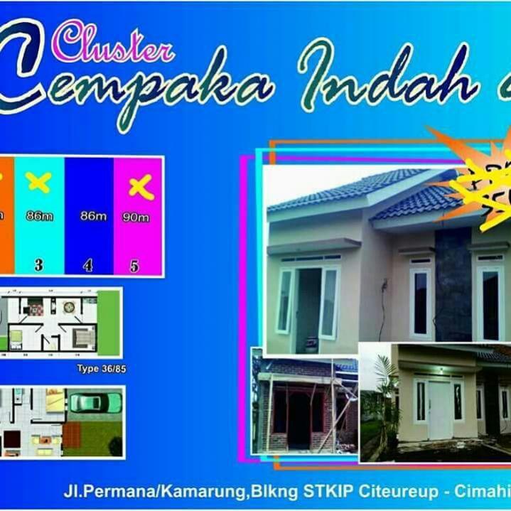 Rumah Dijual Syariah Cluster Cempaka Asri Kamarung Cimahi Utara Bandung