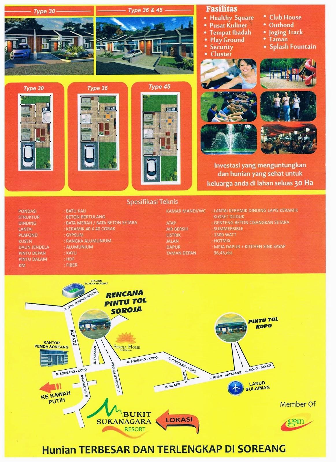 Supermarket Properti January 2015 Sariwangi Regency Konsep 2 Lantai Jl