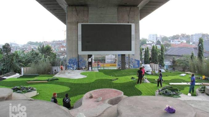 Ridwan Kamil Siap Launching Taman Film Bandung Dibawah Flyover Image