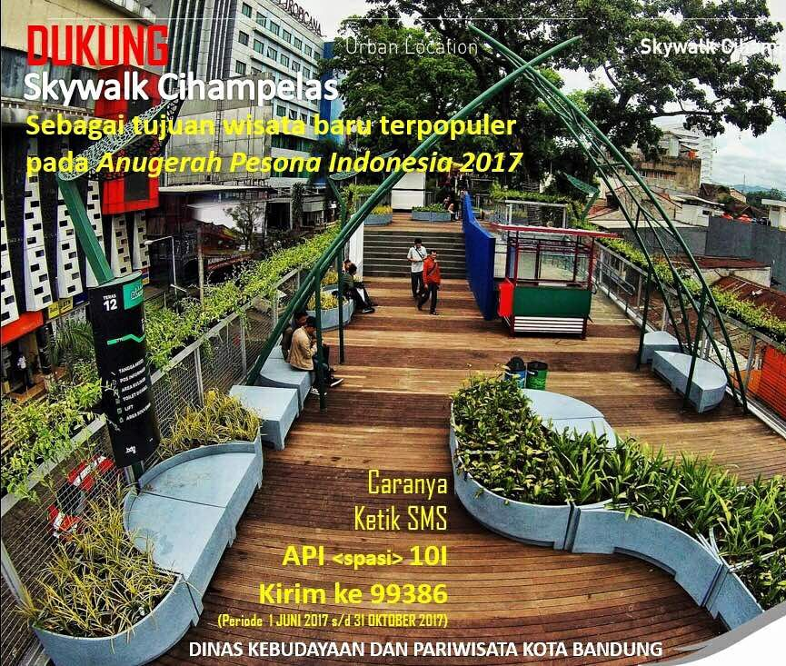Cihampelas Kandidat Destinasi Wisata Terpopuler Indonesia Skywalk Teras Kab Bandung