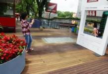 Ngabuburit Teras Cihampelas Jabar Ekspres Online Hari Skywalk Dibuka Kab