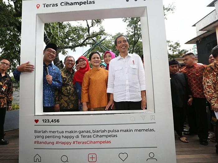 Presiden Jokowi Kunjungi Teras Cihampelas Seputar Bandung Raya Kunjung Kab