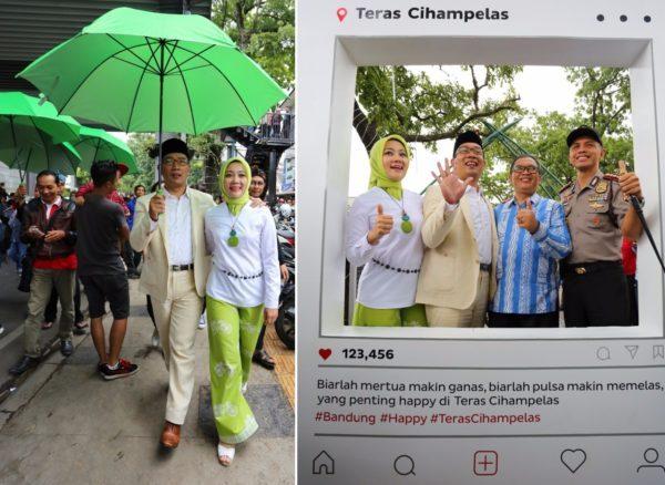 Skywalk Teras Cihampelas Sarana Pedestrian Balebandung Wali Kota Bandung Ridwan