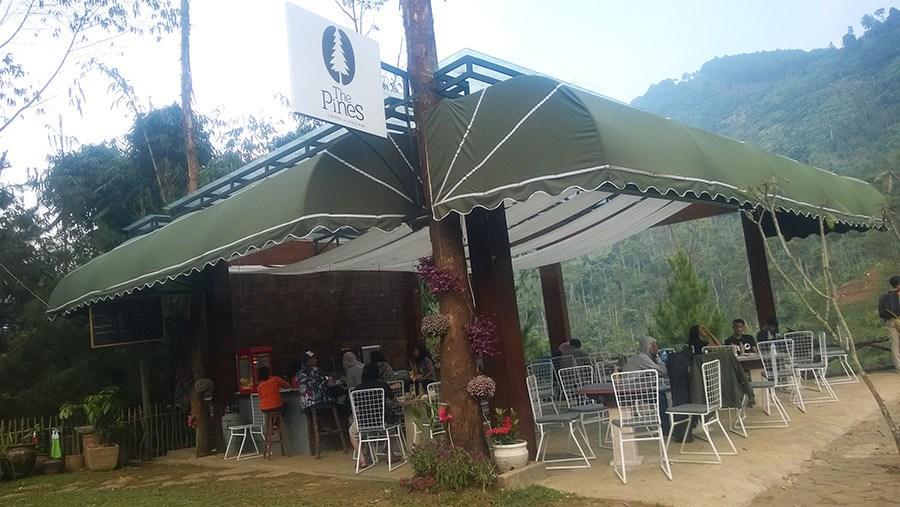 Pesona Lodge Maribaya Lembang Wajib Dikunjungi Pines Cafe Kab Bandung