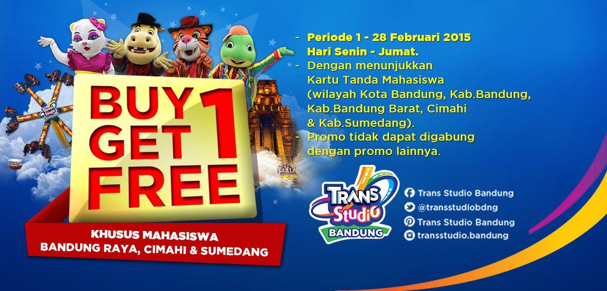 Buy 1 Free Trans Studio Bandung Khusus Mahasiswa 28 Kab