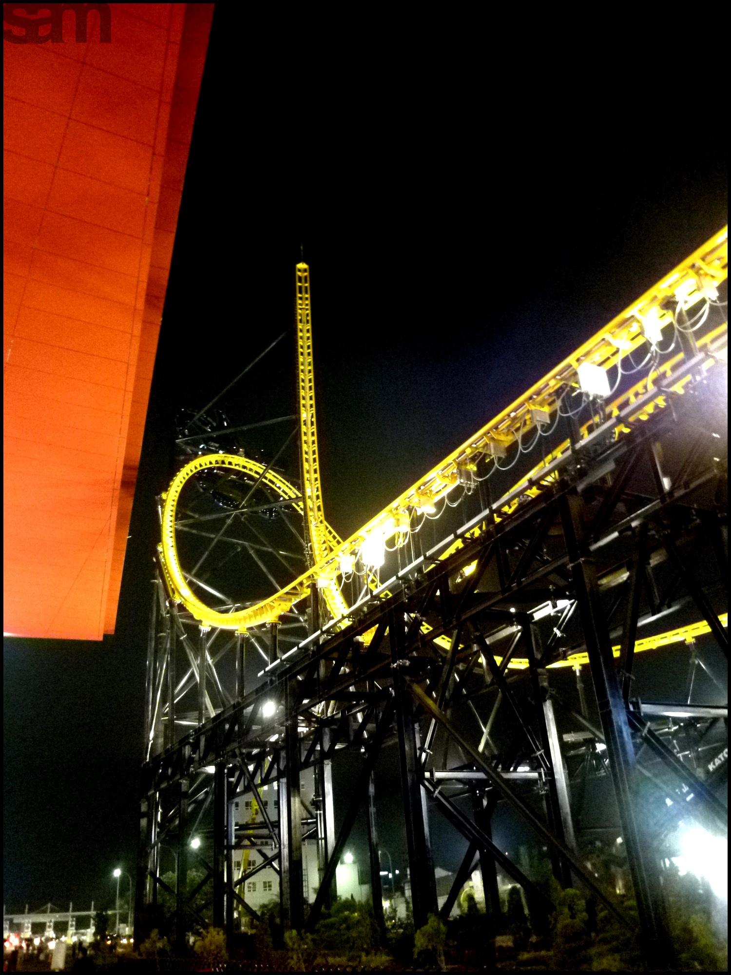Roller Coaster Trans Studio Mall Bandung Indonesia Nightwalk Kab