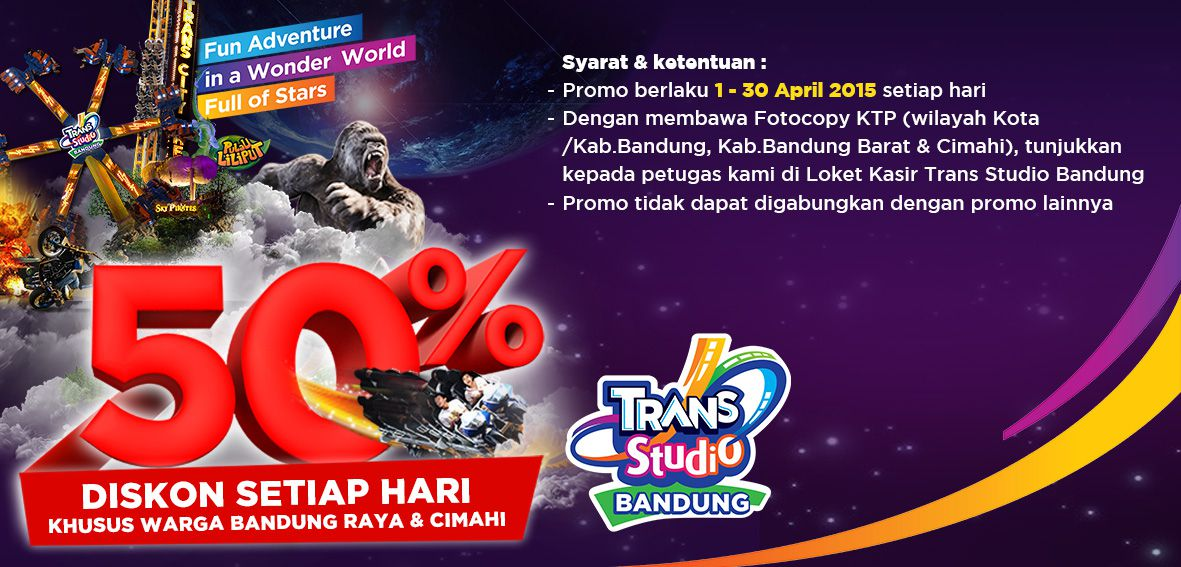 Trans Studio Bandung Tsb Diskon 50 Travels Tiket Masuk Khusus