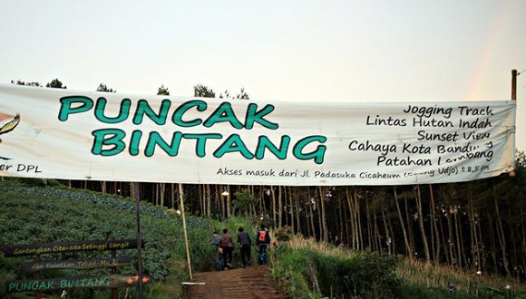 Tempat Wisata Bukit Moko Bandung Warung Daweung Bintang Kab