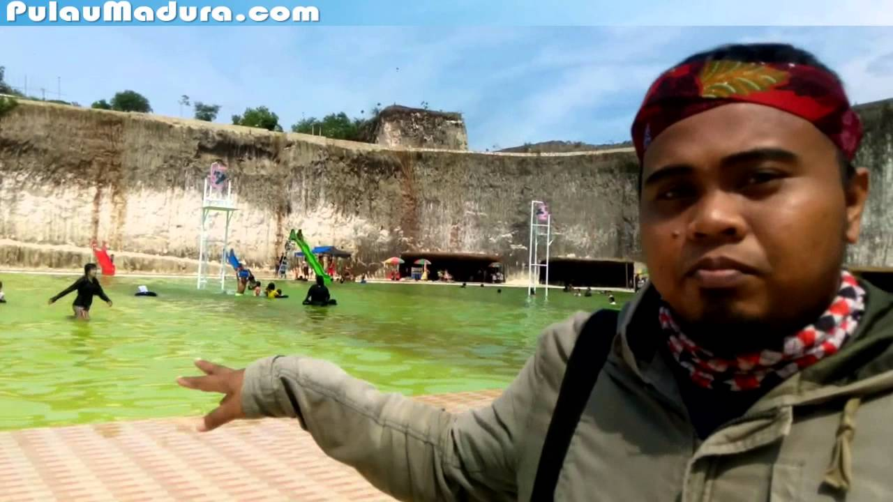 Pemandian Kolam Renang Aeng Guweh Pote Desa Jaddih Bangkalan Youtube