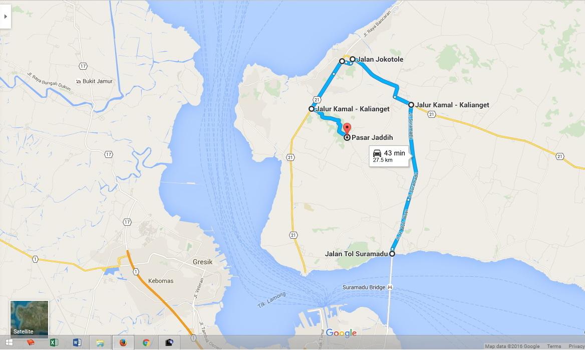 Rizal Christian Petunjuk Jalan Bukit Kapur Jaddih Bangkalan Alt Rute