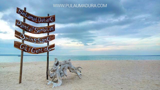 Gerbang Pulau Madura Pantai Sembilan Terletak Desa Bringsang Kecamatan Kepulauan