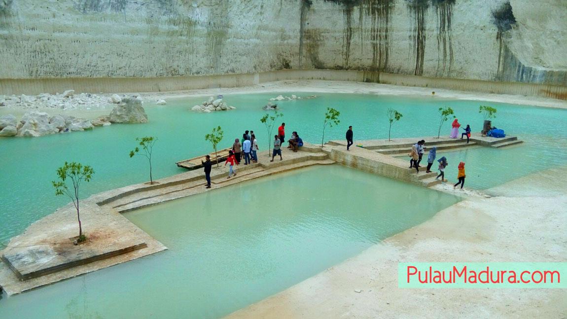 Obyek Wisata Danau Biru Bukit Jaddih Socah Kabupaten Bangkalan Kolla