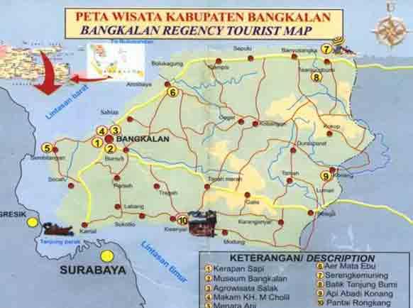 Kayzha Peta Wisata Kabupaten Bangkalan Mangrove Labuhan Kab