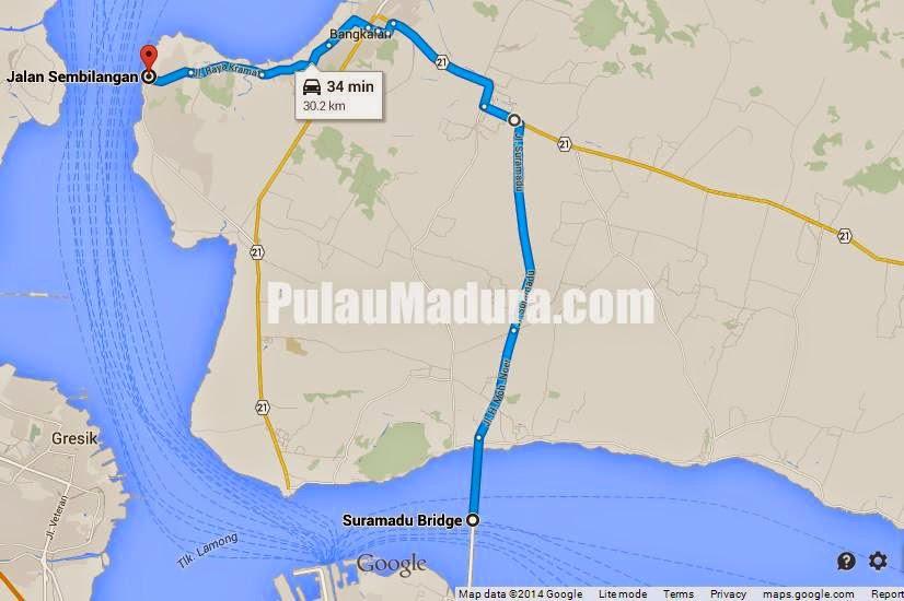 Tempat Wisata Bangkalan Mercusuar Sembilangan Tanjung Piring Google Maps Peta