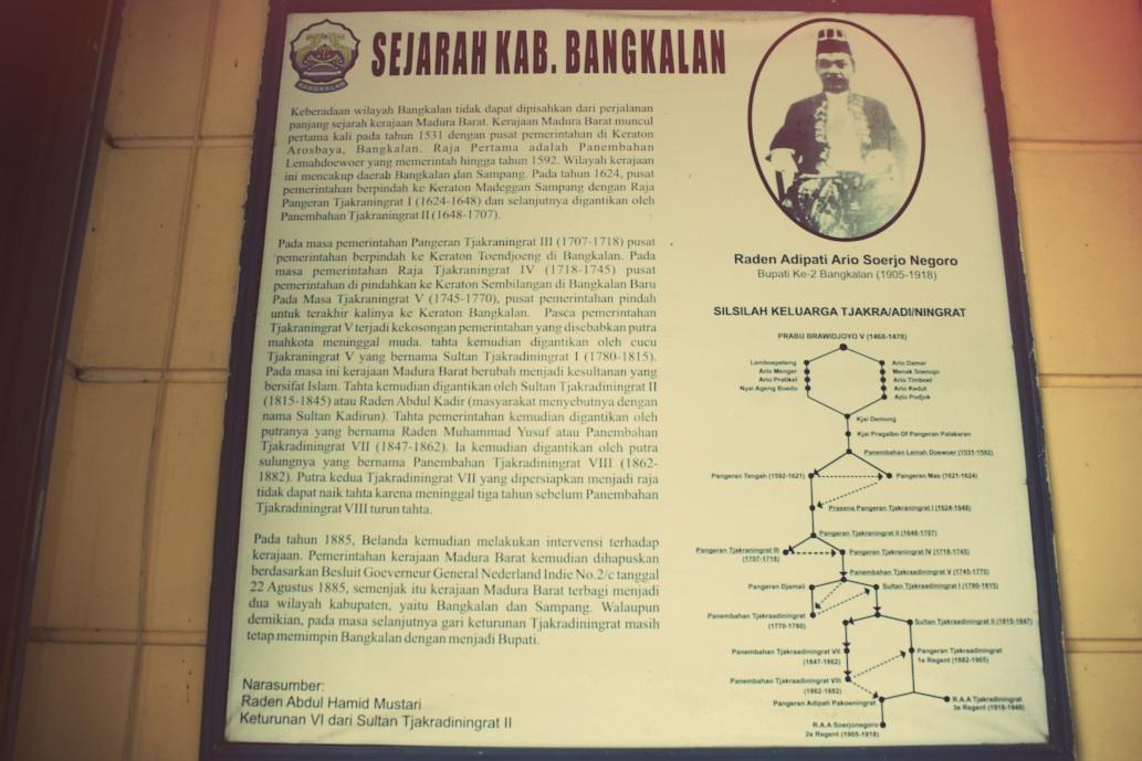 Museum Cakraningrat Sahidin Wangsingrono Musium Kab Bangkalan