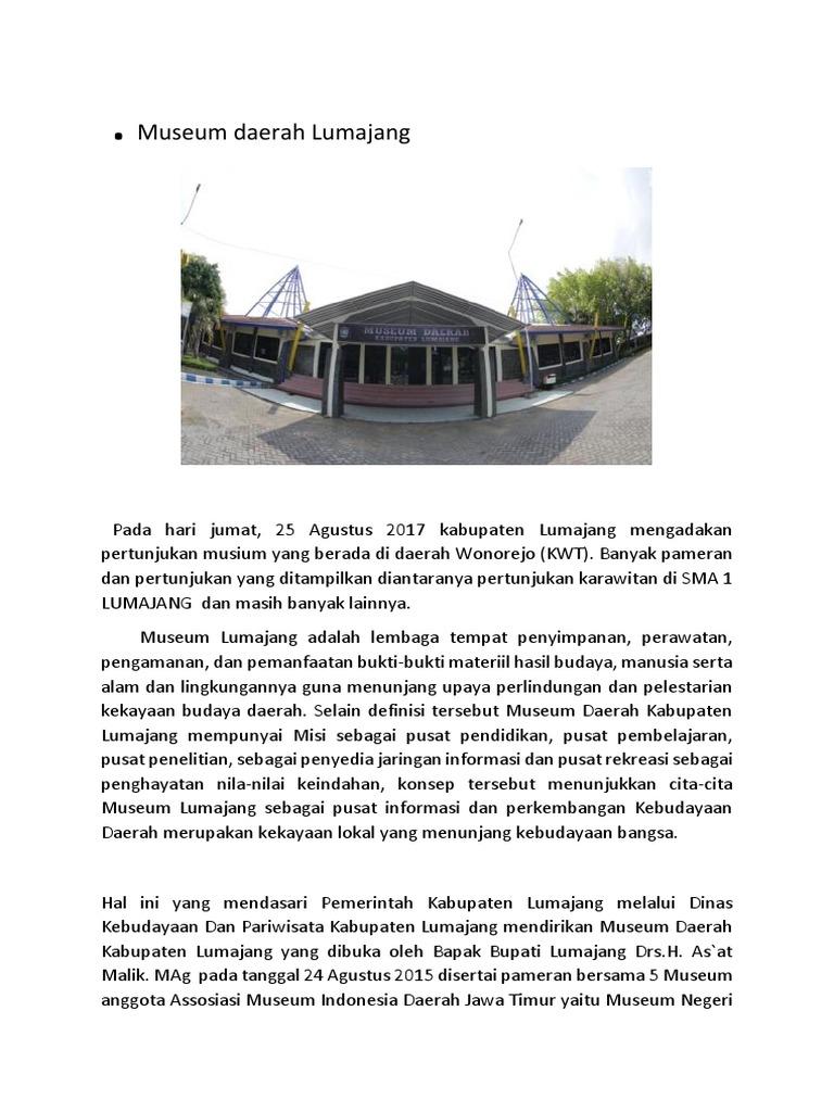 Museum Daerah Lumajang Musium Cakraningrat Kab Bangkalan