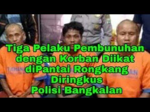 Tiga Pelaku Pembunuhan Korban Diikat Pantai Rongkang Diringkus Polisi Bangkalan