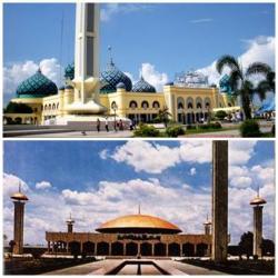 Salat Id Alkaromah Takbiran Sabilal Banjarmasin Post Masjid Raya Muhtadin
