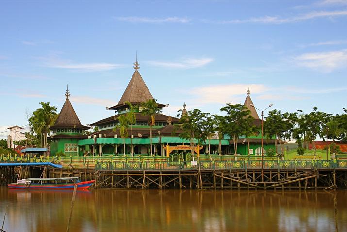 Masjid Kerajaan Indonesia Jami Sultan Suriansyah Kesultanan Banjar Kab Banjarmasin