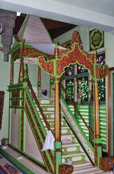 Masjid Sultan Suriansyah Banjarmasin Kalsel Rumah Alloh Mimbar Khutbah Kab