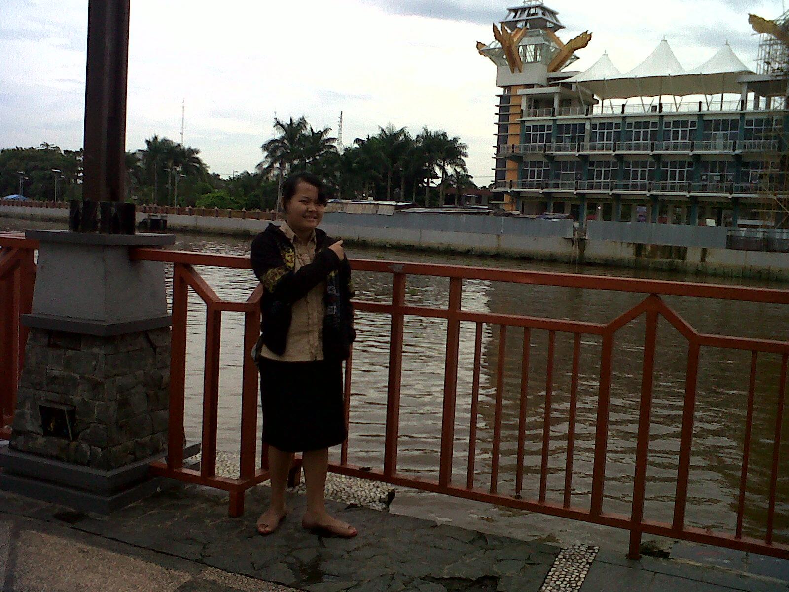 Menara Pandang Sungai Martapura Lia Af Anak Ampah Pemandangan Kota