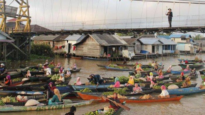 Banjarmasin Wartakota Pasar Terapung Lok Baintan Kab