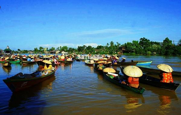 Budaya Sungai Termegah Pasar Terapung Lok Baintan Kalsel Kab Banjarmasin