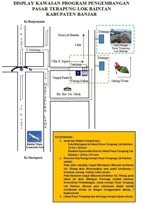 Dinas Kebudayaan Pariwisata Kabupaten Banjar Peta Lokasi Pasar Terapung Lok
