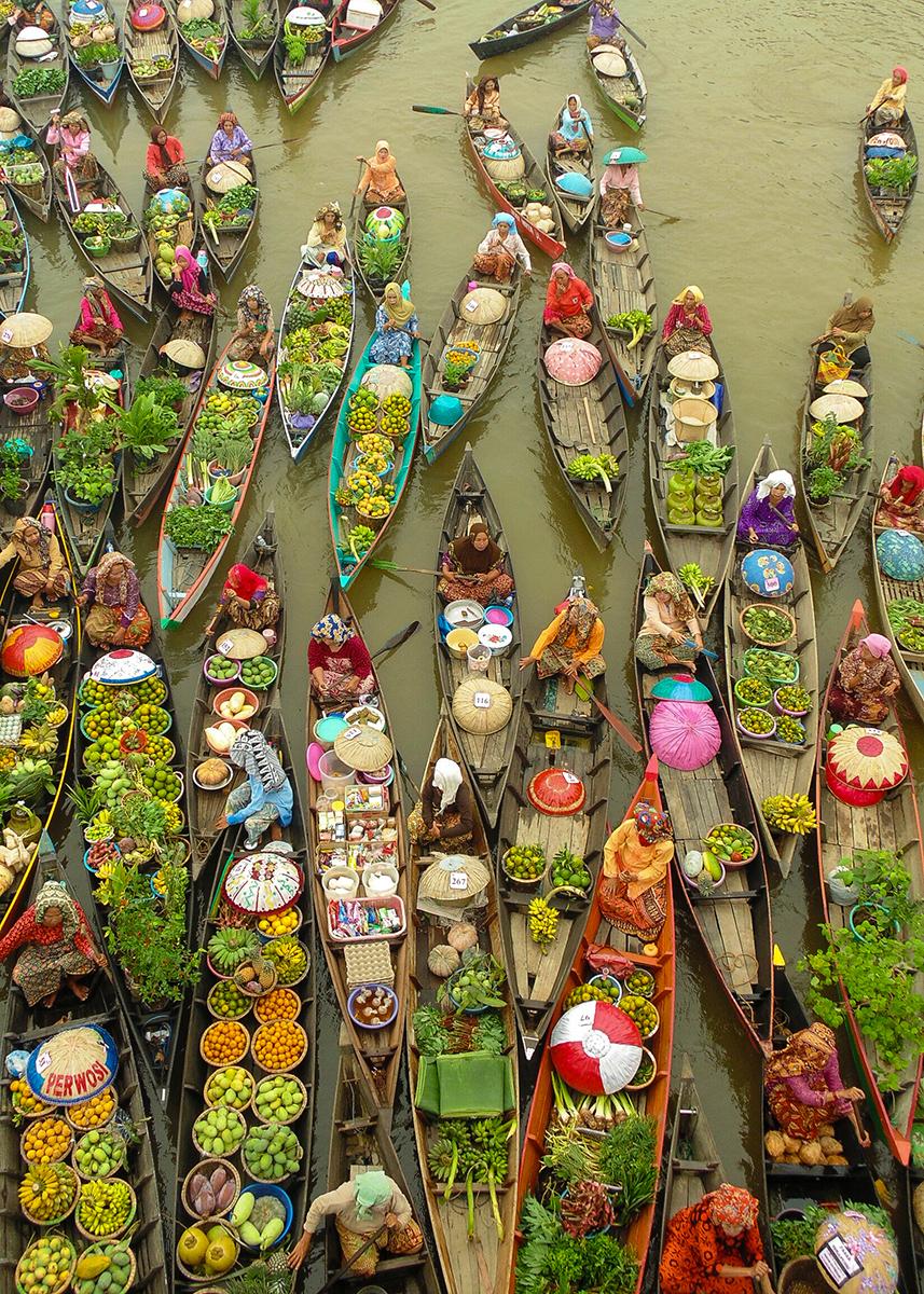 Festival Pasar Terapung Banjarmasin Kalimantan Pesona Indonesia Lok Baintan Kab
