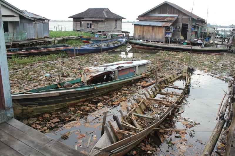Foto Senjakala Pasar Terapung Muara Kuin Banjarmasin Kumparan Kebesaran Nama