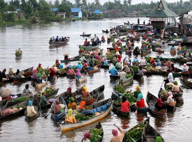 Live Balikpapan Pasar Terapung Kalimantan Selatan Kegiatan Lok Baintan Jam