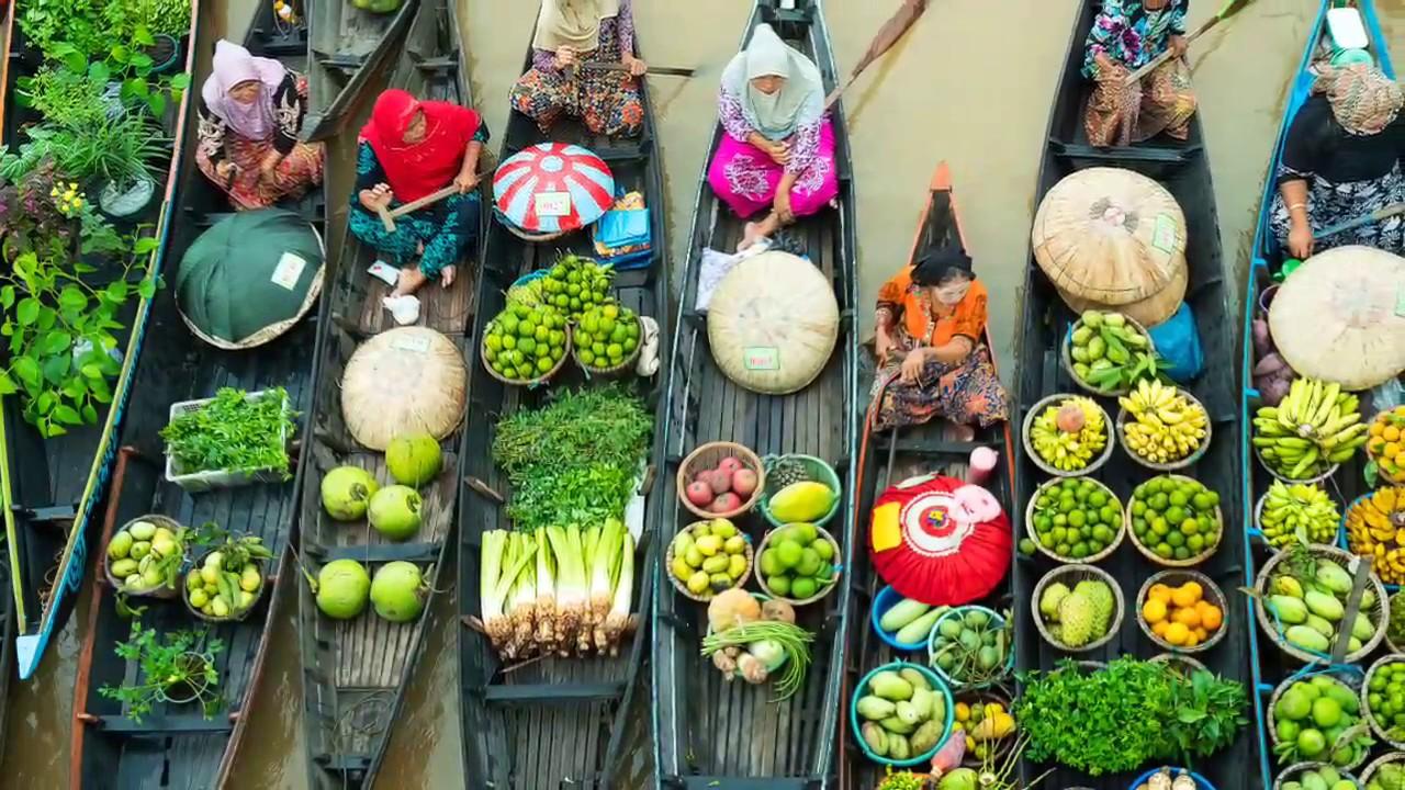 Pasar Terapung Lok Baintan Banjarmasin Youtube Kab