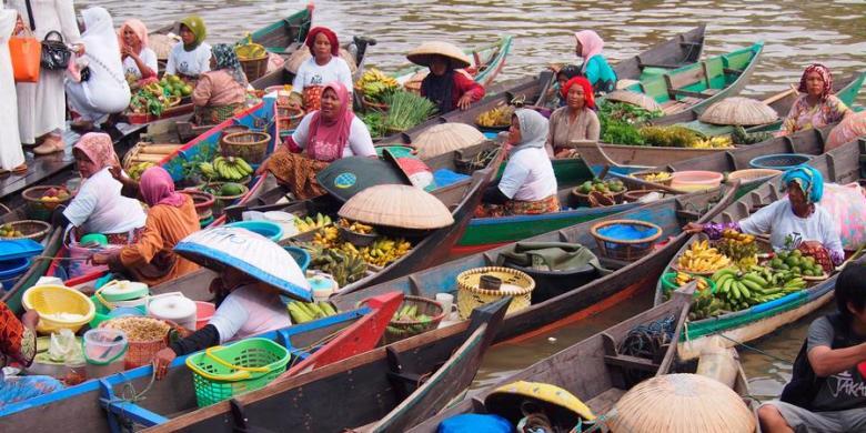Pasar Terapung Lok Baintan Kalsel Direvitalisasi Kompas Pengunjung Bisa Menikmati