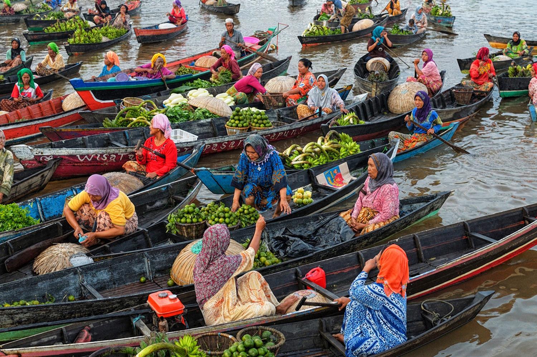 Pasar Terapung Lok Baintan Kedai Kopi Image Kab Banjarmasin