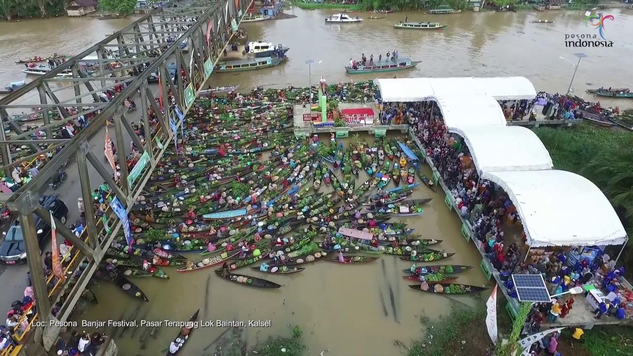 Pasar Terapung Lok Baintan Pesona Banjar Festival Youtube Kab Banjarmasin