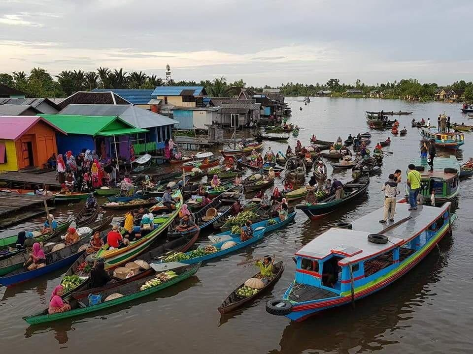 Pasar Terapung Lok Baintan Steemit Image Kab Banjarmasin