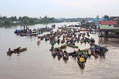 Pasar Terapung Wikiwand Lok Baintan Desa Sungai Pinang Kecamatan Tabuk
