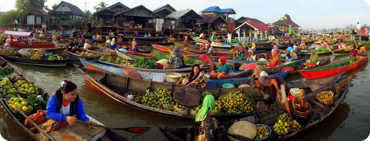 Perjalanan Tak Berujung Terapung Lok Baintan Pasar Banjarmasin Kab