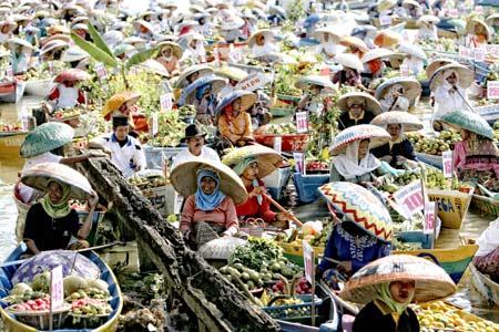 Wisat Banua Kita Pasar Terapung Lok Baintan Kab Banjarmasin
