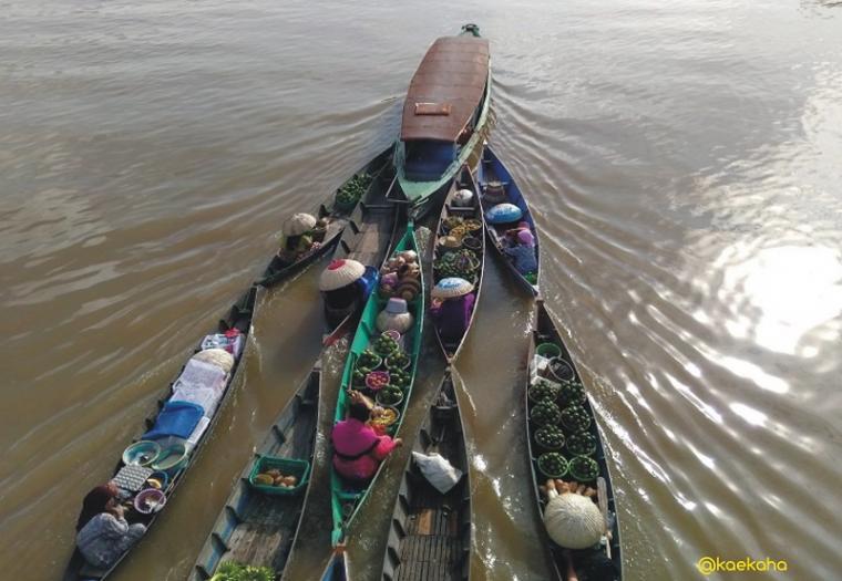 Wisata Banua Menemukan Pasar Terapung Lok Baintan Jalur Darat Kab